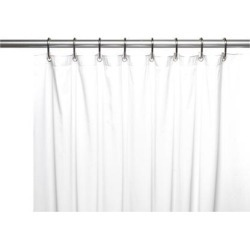Carnation Home Fashions Shower Stall-Sized, 5 Gauge Vinyl Shower Curtain Liner in White