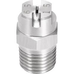 Flat Fan Spray Tip - 1/4BSPT Male Thread 304 Stainless Steel Nozzle - 65 Degree 2.4mm Orifice Diameter