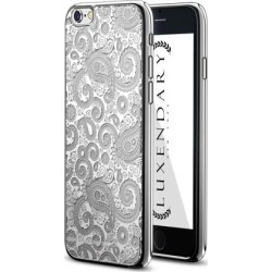 LUXENDARY WHITE PAISLEY DESIGN CHROME SERIES CASE FOR IPHONE 6/6S PLUS
