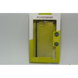 New in Box OEM PureGear Slim Shell Clear/Black Case For iPhone 6 Plus/6s Plus