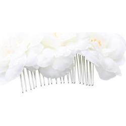 Wedding Flower Hair Comb Wedding Ivory Rose Flowers Bridesmaid Hair Clips