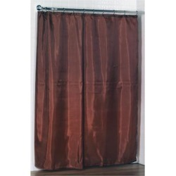 Carnation Home Fashions Standard-Sized Polyester Fabric Shower Curtain Liner in Spice Color