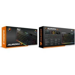 Cougar Aurora S Gaming Keyboard with Carbonlike Design and Multicolor Lighting