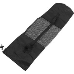Unique Bargains Adjustable Strap Nylon Yoga Pilates Mat Bag Black