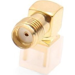 Gold Tone Right Angle Solder PCB Mount Car Antenna SMA Jack Female RF Connector
