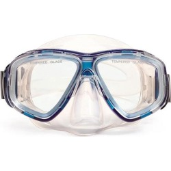 5.5' Blue and Clear Newport Mask Swimming Pool Accessory for Teens