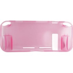 Indigo7 Authorized Nintendo Switch Transparent TPU Plastic Console Case Protector Cover - Pink