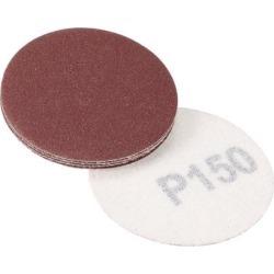 2-inch Hook and Loop Sanding Discs, 150-Grits Grinding Abrasive Aluminum Oxide Flocking Sandpaper for Random Orbital Sander 10pcs