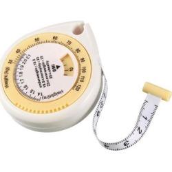 BMI Calculator 1.5m 6 Inch Double Scale Body Tape Measure White