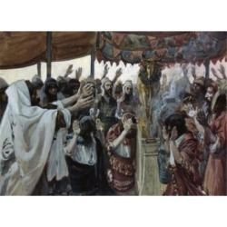 Posterazzi SAL999120 The Golden Calf James Tissot 1836-1902 French Jewish Museum New York Poster Print - 18 x 24 in.