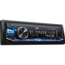 JVC KD-X240BT Single DIN In-Dash Digital Media Car Stereo w/ Android & iPhone Compatibility and FLAC File Support