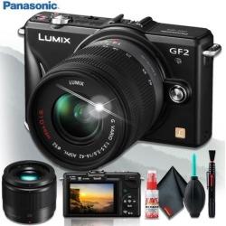 Panasonic Lumix G DMC-GF2K Digital Camera (BODY ONLY) + Panasonic Lumix G 25mm f/1.7 ASPH. Lens + Cleaning Kit