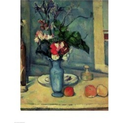 Posterazzi BALXIR29279LARGE The Blue Vase Poster Print by Paul Cezanne - 24 x 36 in. - Large