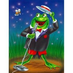 Frog Comedy Routine Flag Garden Size APH0523GF