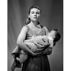 Posterazzi SAL2559819F Portrait of Young Mother Holding Baby Boy Poster Print - 18 x 24 in.