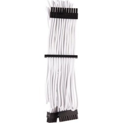 Corsair CP-8920231 Premium Individually Sleeved ATX 24-Pin Cable Type 4 Gen 4 - White