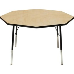 Mahar Manufacturing M60DSBK-SN Daisy Activity Table with Maple Top and Black Edge, 60 in. found on Bargain Bro India from Newegg Canada for $452.02