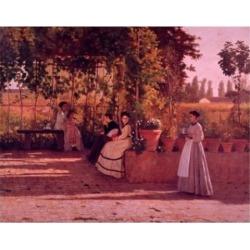Posterazzi SAL900105134 The Garden Trellis by Silvestro Lega 1868 Poster Print - 18 x 24 in.