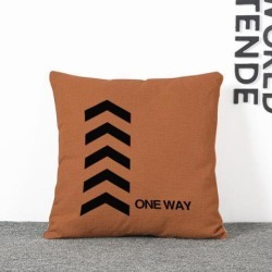 45x45cm Cotton Linen Pillow Case Silp Waist Cushion Cover Bed Sofa Decor #2