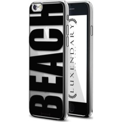 LUXENDARY BOLD BLACK BEACH DESIGN CHROME SERIES CASE FOR IPHONE 6/6S PLUS