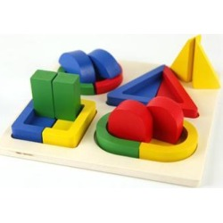 Montessori Toys Geometric Shapes Matching Games Kids Intelligence Exercise Early Learning Educational Wooden Toys For Children