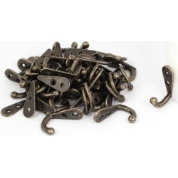 Bedroom Bathroom Clothes Towel Hanging Zinc Alloy Wall Hook Bronze Tone 50pcs