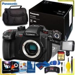 Panasonic Lumix Mirrorless Micro Four Thirds Digital Camera + Corel Editing Program Kit + 32gb Memory Kit + Camera Case + 160 LED Video Light +