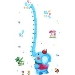 Unique Bargains Kids Room Cartoon Elephant Height Chart Wall Decor Sticker Decal Wallpaper found on Bargain Bro Philippines from Newegg Canada for $10.86
