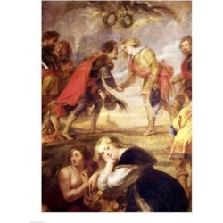 Posterazzi BALXAM89556LARGE The Meeting of Ferdinand II Poster Print by Peter Paul Rubens - 24 x 36 in. - Large