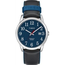 Women's Timex Easy Reader Black Leather Band Watch TW2R62400