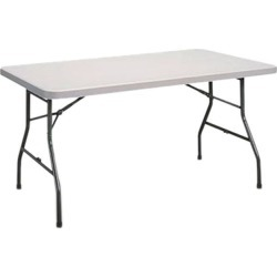 Alera ALEPT6030G Rectangular Plastic Folding Table