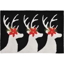 Trans Ocean FTP12181848 Frontporch Reindeer Black Pillow, 24 x 36 in.