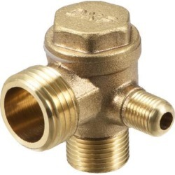 Air Compressor Check Valve 90 Degree Right Male Threaded Brass Connector 1/8' x 3/8' x 1/2'
