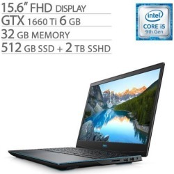 Dell G-Series 15 3590 15.6' FHD Gaming Laptop, Core i5-9300H, GTX 1660 Ti 6GB GDDR6, 32GB RAM, 512GB SSD+2TB SSHD, Quad-Core up to 4.10 GHz, RJ-45.