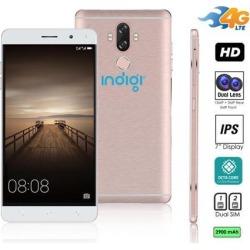 Indigi® Unlocked 4G LTE Android 7 Nougat Octa-Core 1.3GHz 6-inch SmartPhone (Fingerprint Scan + 2SIM Slots + 13MP CAM)(Rose Gold)