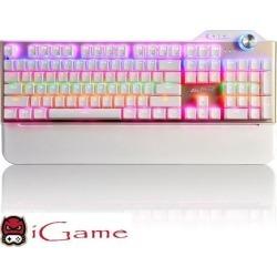 iGame Ajazz Assassin PC Gaming Mechanical Keyboard, Multicolor LED Backlit, Black Mechanical Switches (Gold)