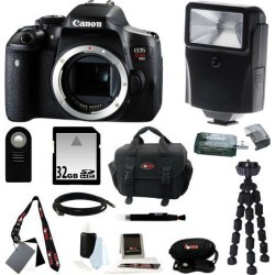 Canon T6i: Canon EOS Rebel T6i Digital Camera (Body Only) and 32GB Deluxe Accessory Kit