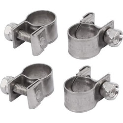 9mm-11mm 304 Stainless Steel Screw Mounted Adjustable Pipe Hose Clamps 4pcs