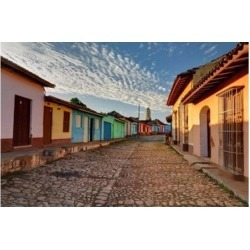 Posterazzi PDDCA11AJE0140 Early Morning View of Streets in Trinidad Cuba Poster Print by Adam Jones - 39 x 26 in.