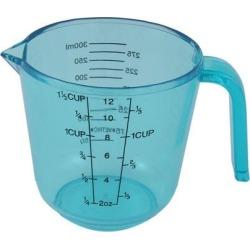 Kitchen Plastic Cylinder Shape Graduated Scale Powder Liquid Measuring Cup 300ml