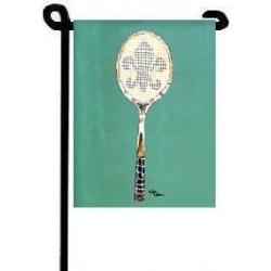 Carolines Treasures 8479GF Tennis Fleur de lis Flag Garden Size