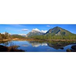 Posterazzi DPI1794772 Mount Rundle in Banff National Park Alberta Canada Poster Print by Richard Wear, 30 x 11