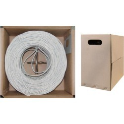 Offex Bulk Cat5e Ethernet Cable Stranded UTP (Unshielded Twisted Pair) Pullbox 1000 foot - White