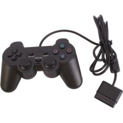 New Games Wired Shock Game Vibration Controller for Sony Playstation PS2 Black
