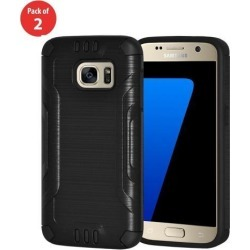 For Samsung GALAXY S7 Hard Shockproof Hybrid Protective Case Cover Black