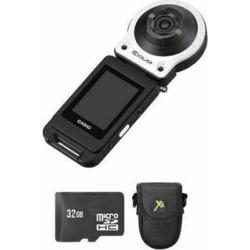 Casio Exilim FR10 Digital Camera - White + 32GB & Case