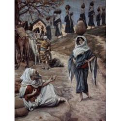 Posterazzi SAL9999940 Abrahams Servant Meets Rebecca James Tissot 1836-1902 French Jewish Museum New York Poster Print - 18 x 24 in.
