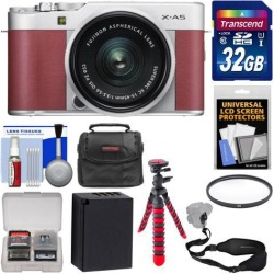 Fujifilm X-A5 4K HD Wi-Fi Digital Camera & 15-45mm XC Lens Kit Pink