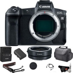 Canon EOS R Mirrorless Digital Camera (Body Only) Bundle w/ Mount Adapter + Carrying Case & more
