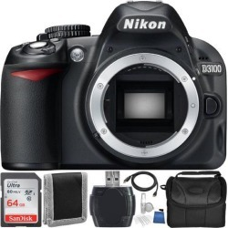 Nikon D3100 Digital SLR Camera (Body Only) with Essential Accessory Bundle